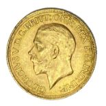George V gold Sovereign coin, 1930, Pretoria mint