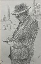 Harold Riley, Lowry drawing (standing)