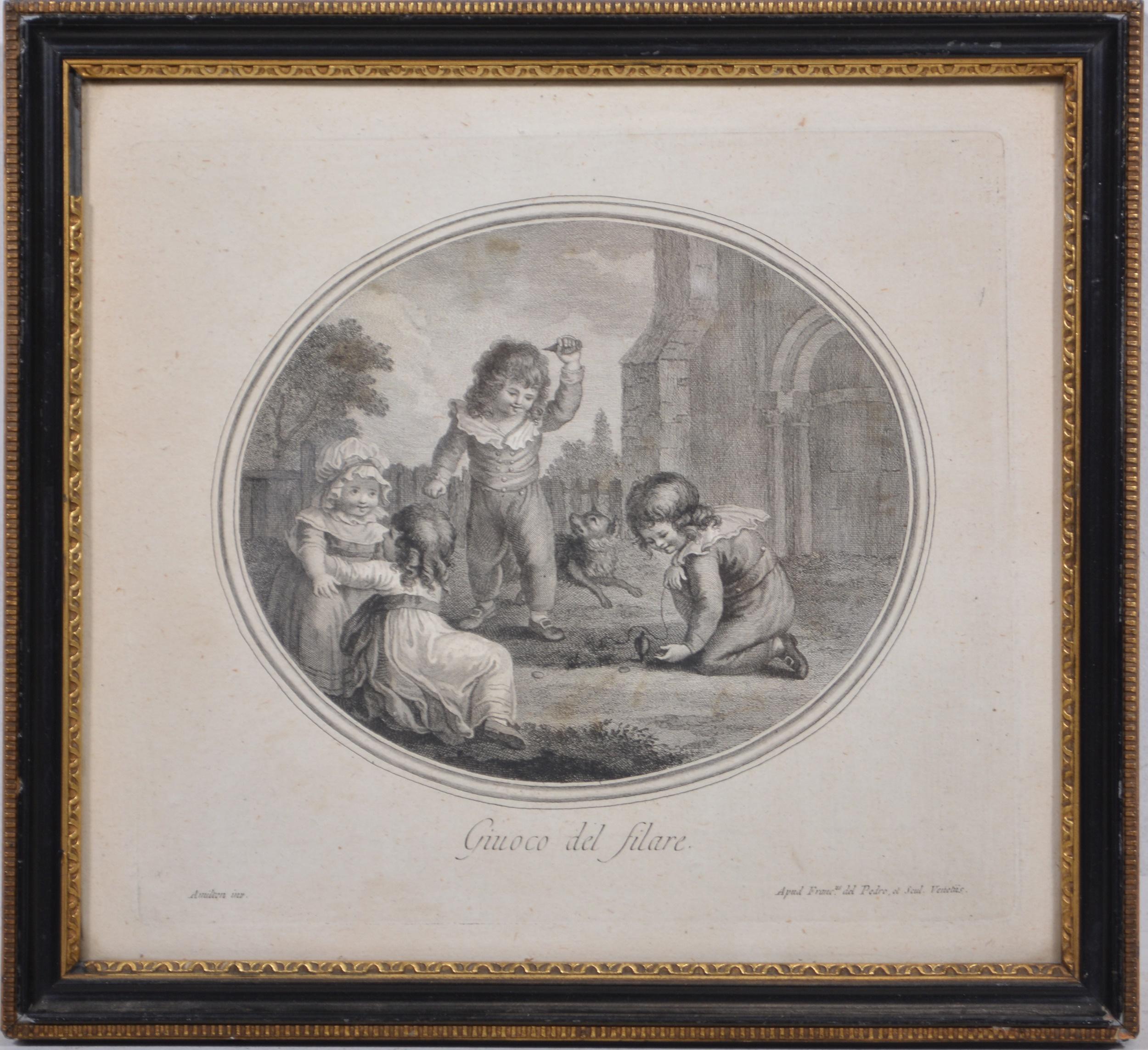 Gavin Hamilton, four engravings of children - Image 3 of 8