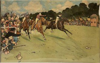 After Cecil Aldin, The Bluemarket Races