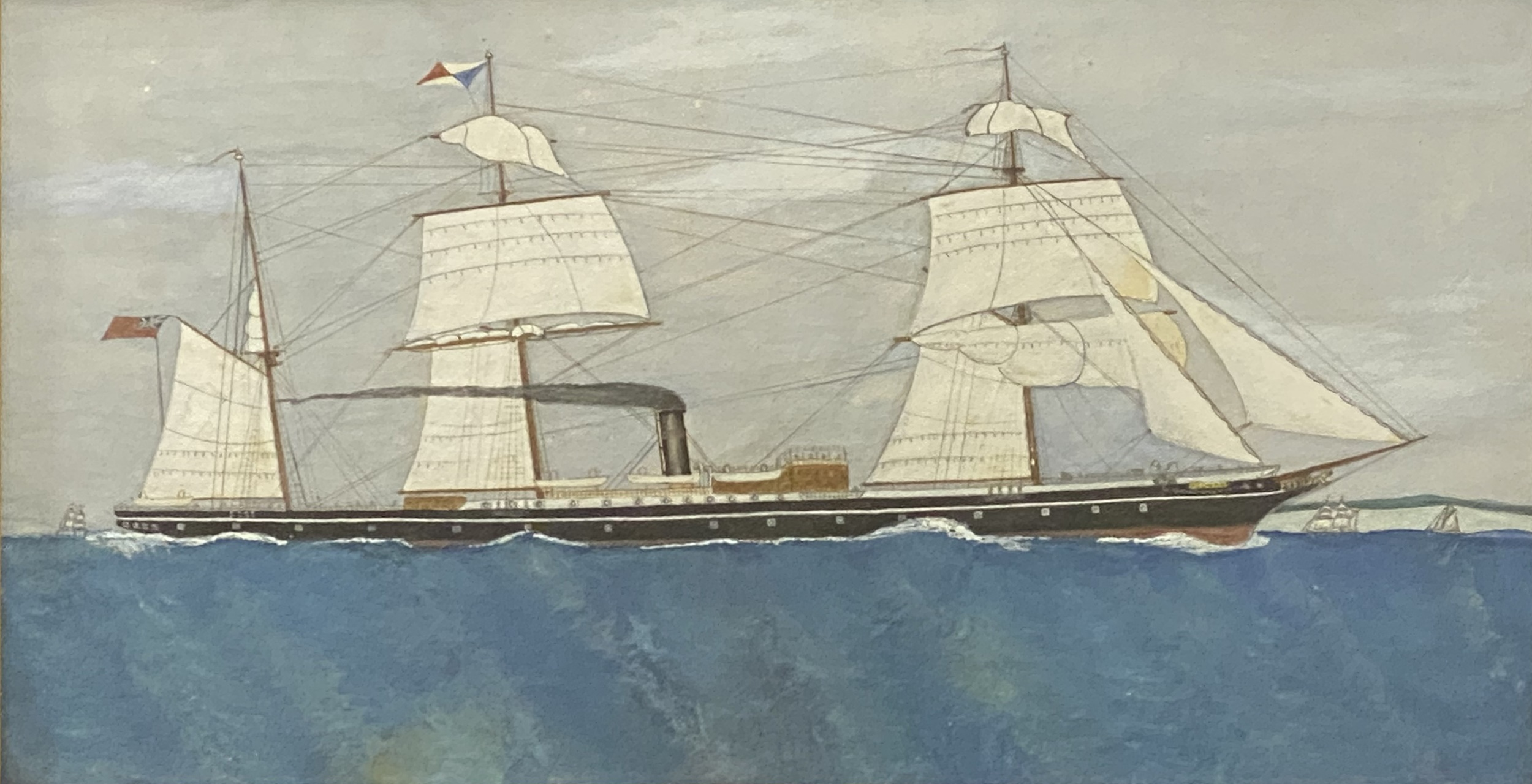 English School, early 20th Century, port painting