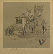 After Cecil Aldin, The Bell Inn at Stilton