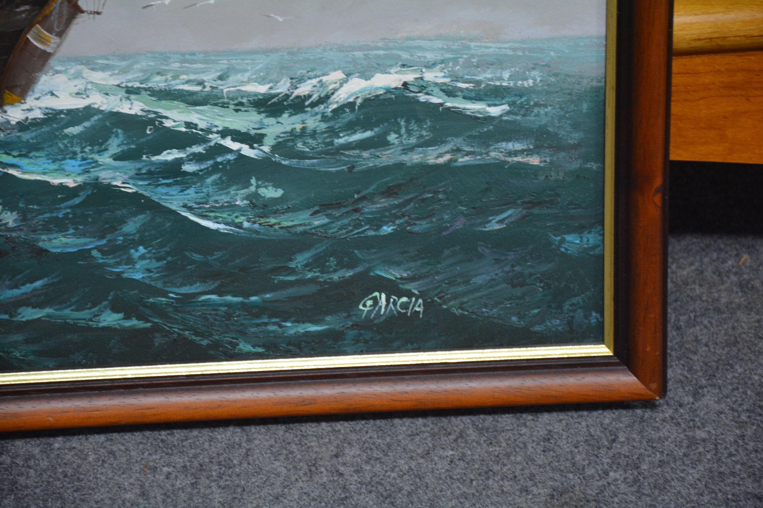 Garcia (Contemporary) - Galleon at Sea - Image 3 of 4