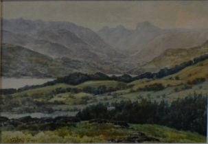 Valentine Green, Windermere & Langdale Valley from Far Orrest