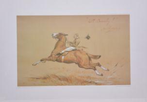 Basil Nightingale, two colour prints