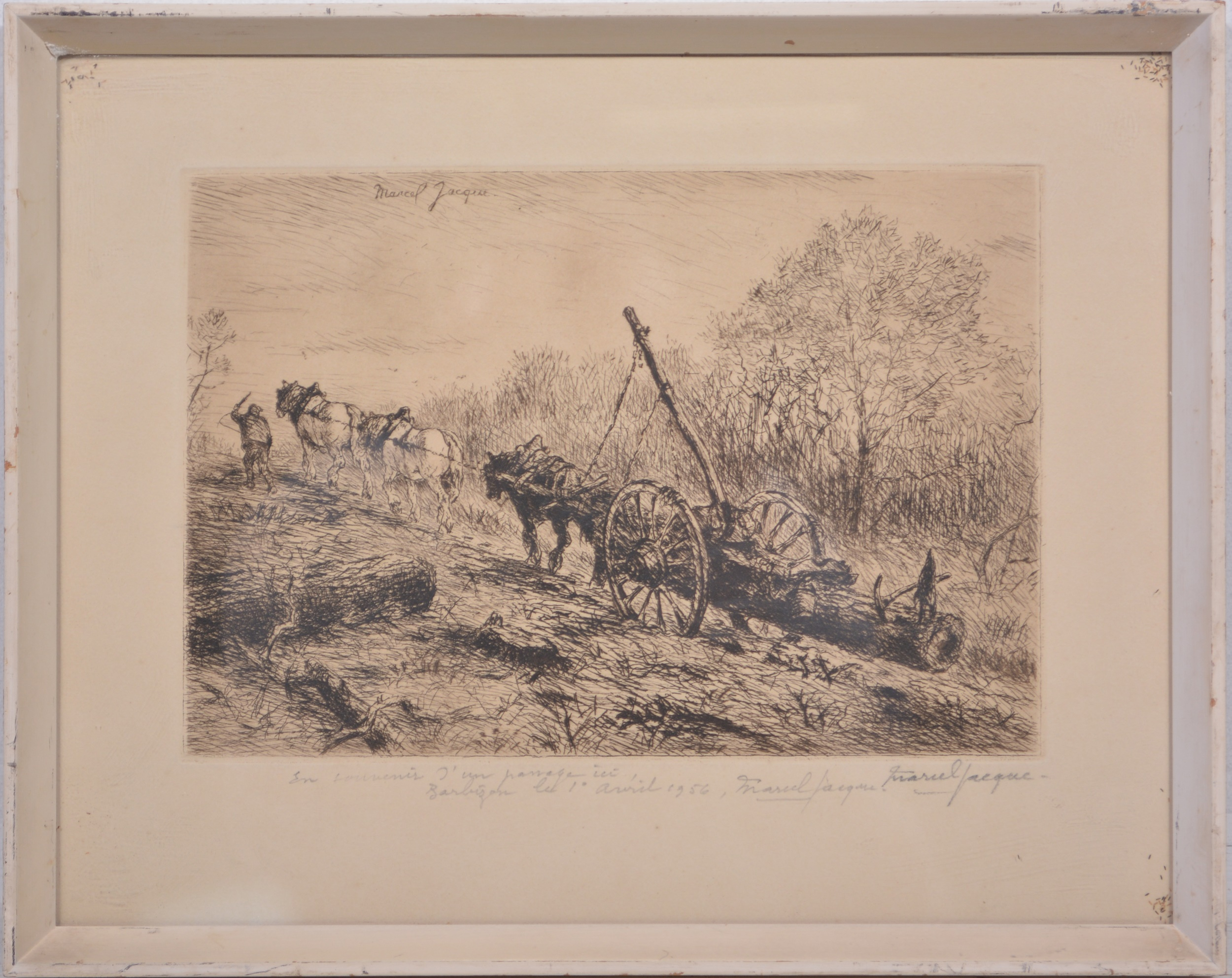 Marcel Jacque, The Log Wagon - Image 2 of 4
