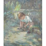 Ugo le Casun, Girl with a cat,