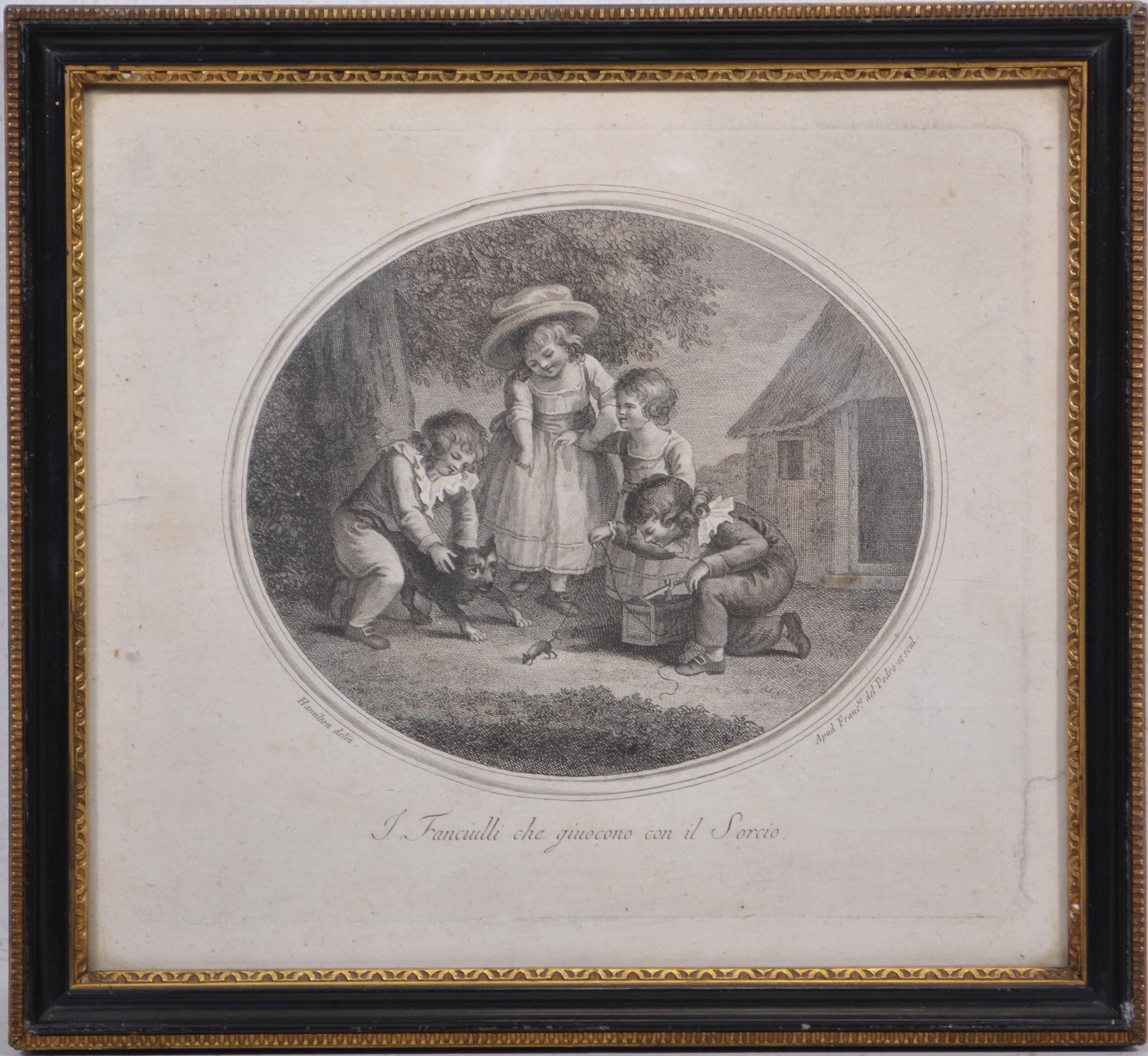 Gavin Hamilton, four engravings of children - Image 7 of 8