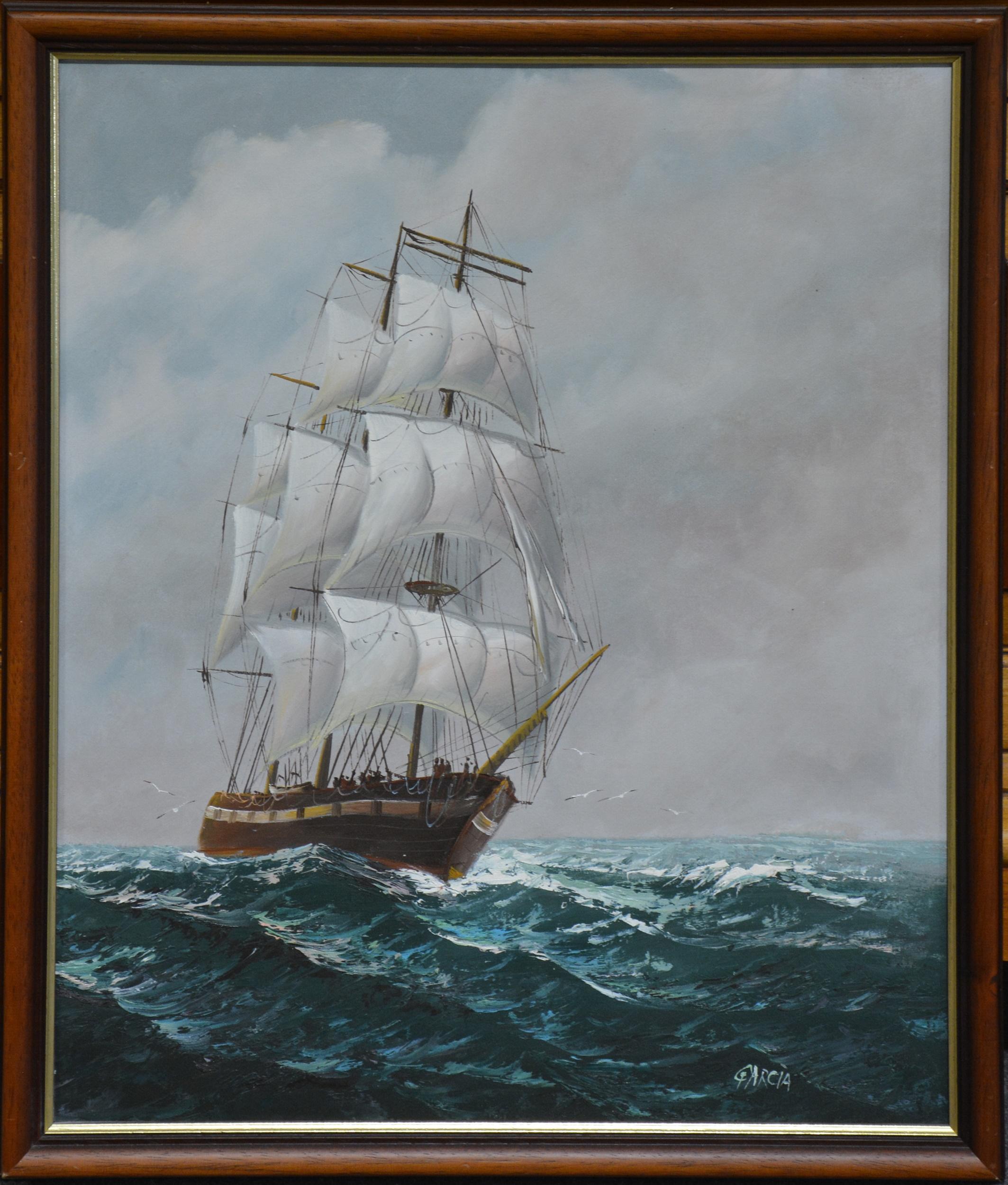 Garcia (Contemporary) - Galleon at Sea