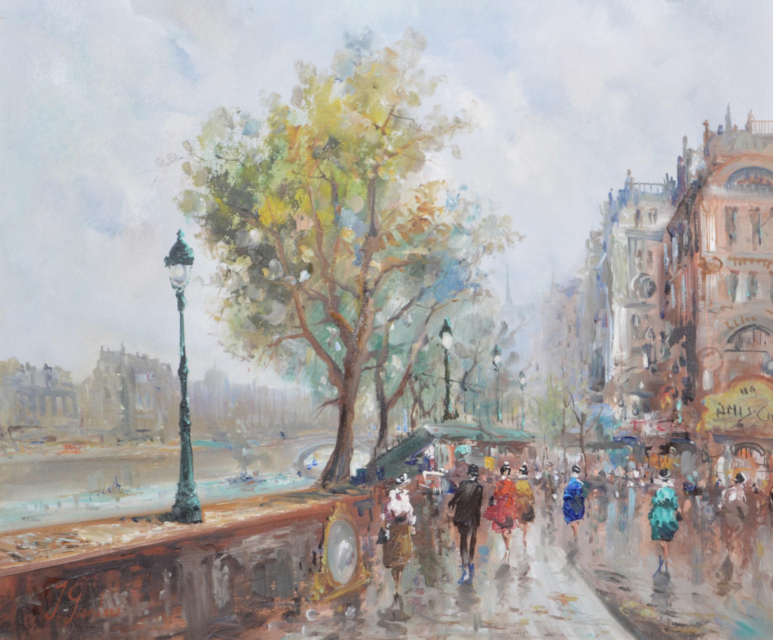 J Giordano, By the River Seine,