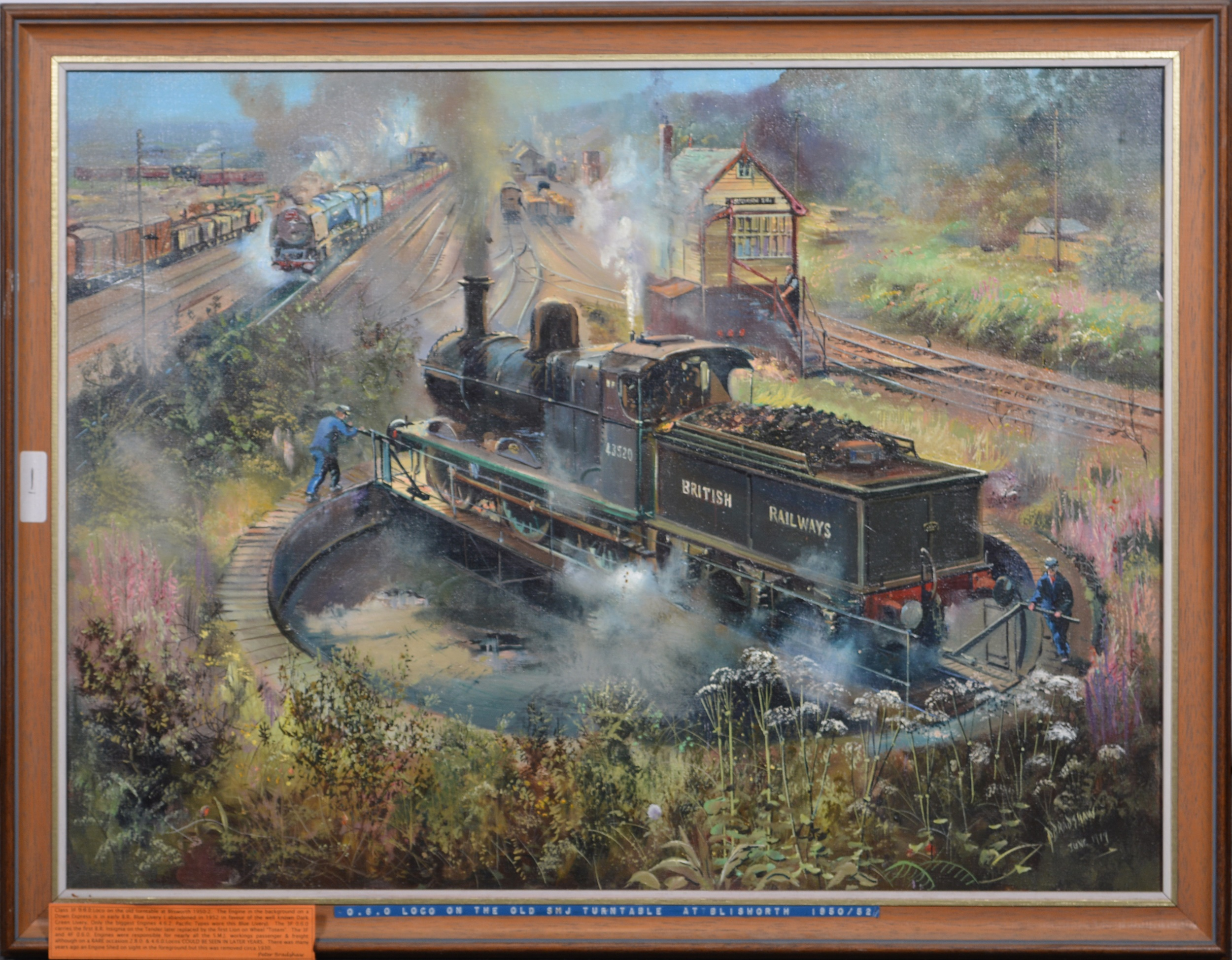 Peter Bradshaw, Loco on The Old SMJ Turntable at Blisworth - Image 2 of 4