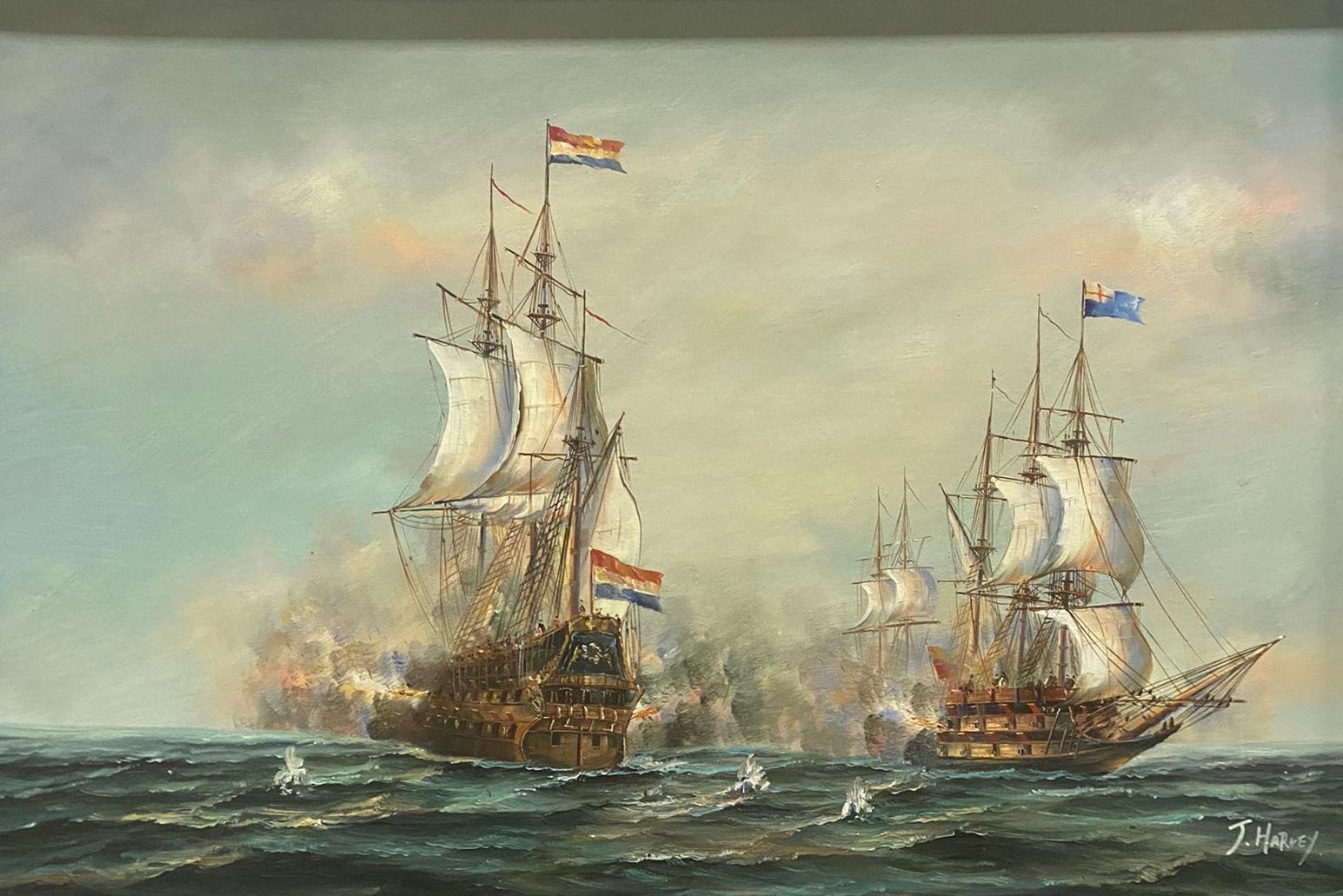 J Harvey, Naval battle