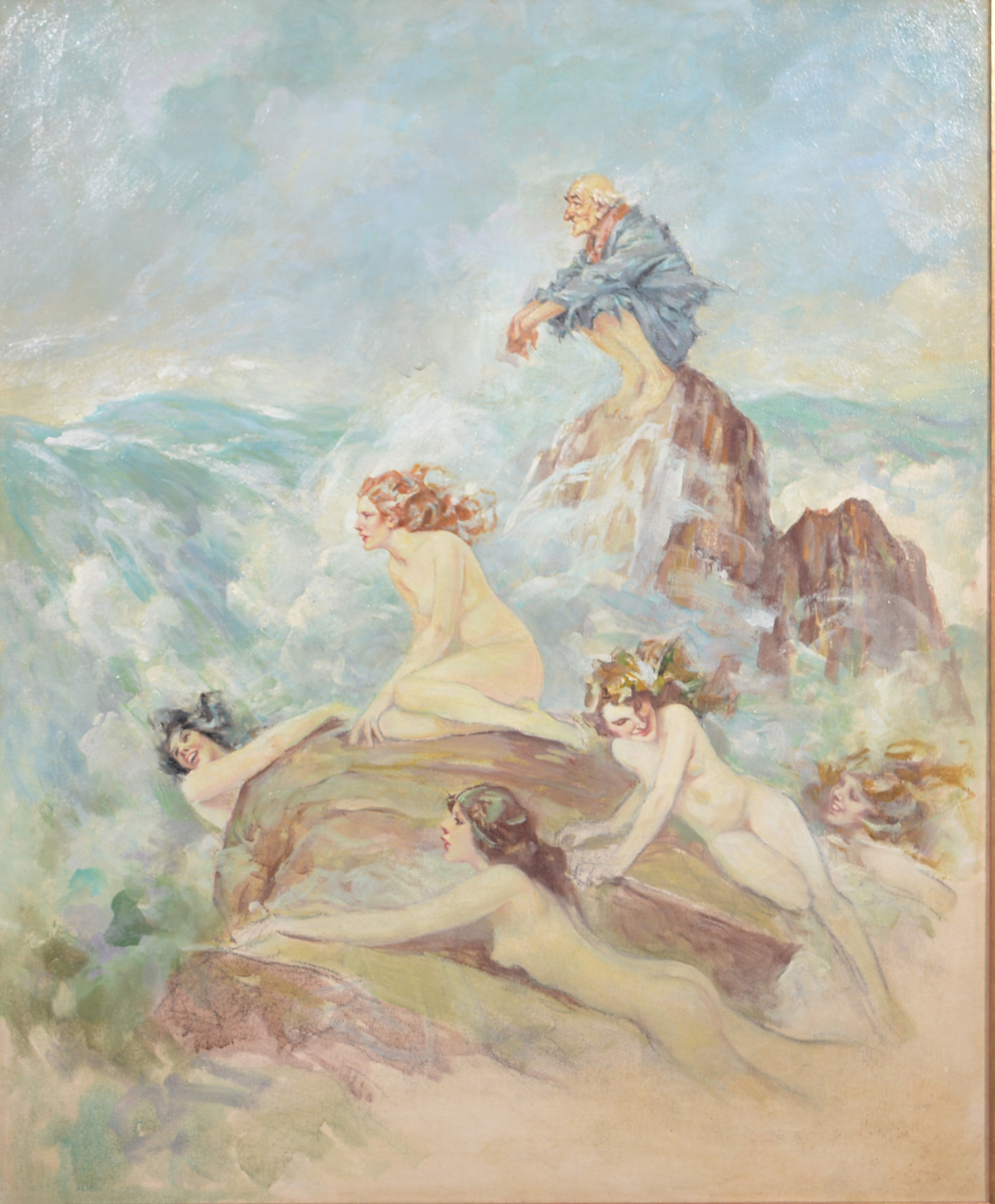 Follower of Norman Alfred William Lindsay, (Australian), Sirens