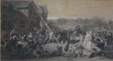 After Edward Goodhall, Raising The May-pole.