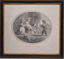 Gavin Hamilton, four engravings of children