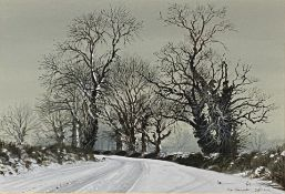 Peter Newcombe, Winter Road Near Adstone.