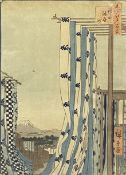 After Hiroshige, Dyer's Quarter, Kanda and another Japanese print