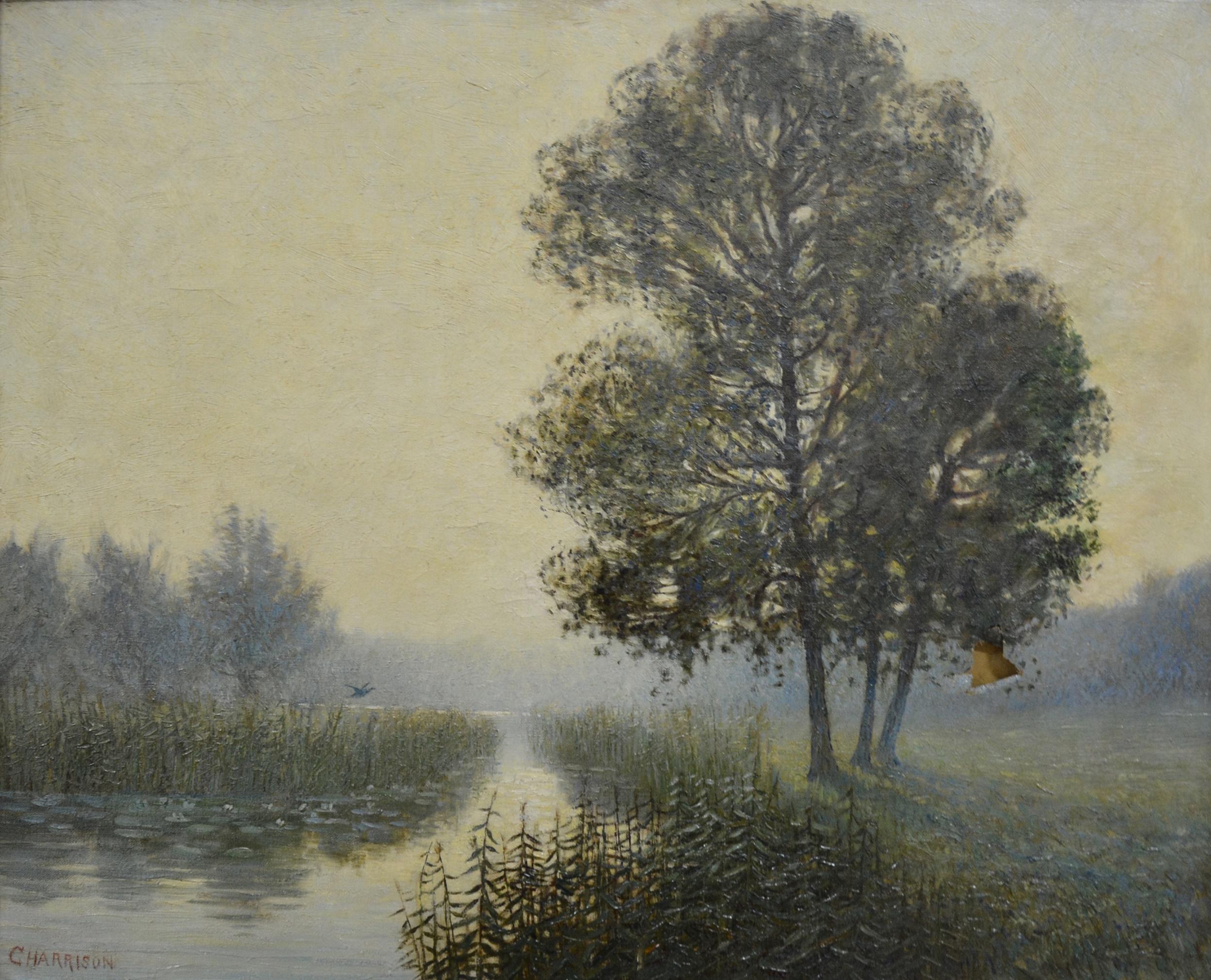 George Harrison - River landscape.