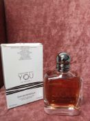 RRP £90 Boxed Full 100Ml Tester Bottle Of Emporio Armani Stronger With You Intensely Eau De Parfum P