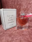 RRP £80 Boxed Full 50Ml Bottle Of Lancome Paris La Vie Est Belle Intensement Eau Dr Perfume Intense