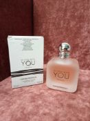 RRP £85 Boxed Full 100Ml Tester Bottle Of Emporio Armani In Love With You Freeze Eau De Parfum