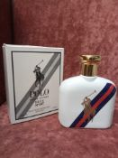 RRP £80 Boxed Full 125Ml Tester Bottle Of Ralph Lauren Blue Sport Edt Spray