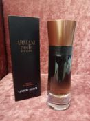 RRP £80 Boxed Full 60 Ml Tester Bottle Of Armani Code Profumo Eau De Parfum For Men