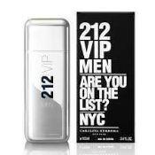 RRP £50 Unboxed Unused Ex-Display Tester Bottle Of Carolina Herrera 212 Vip Men Eau De Toilette Spra