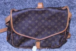 RRP £1,500 Louis Vuitton Saumur 30 Shoulder Bag, Monogram Canvas, Vachetta Handles, 30X27X17Cm (