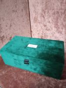 RRP £150 Brand New Gucci Beauty Luxurious Green Velvet Ribboned Cosmetic Box