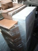 RRP £1000. Pallet To Contain A. Assortment Of Furniture To Include A King Size White Bed Base With D