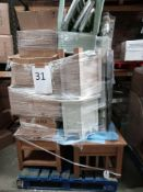 RRP £500 - Pallet To Contain An Assortment Of Furniture And Decor To Include 2 Oak Coffee Tables, 2