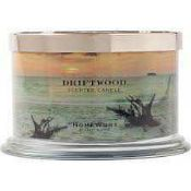 RRP £80 Lot To Contain Homeworx By Harry Slatkin Set Of 2 Driftwood 4 Wick Candles