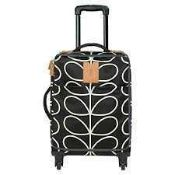 RRP £150 Tagged Orla Kiely Tagged Giant Linear Stem Travel Cabin Case Liquorice