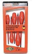 Combined RRP £100 Lot To Contain 5 Boxed Sets Of Dart 5 Piece Insulated Screwdriver Sets