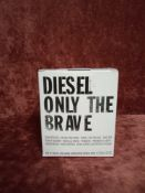 RRP £65 Brand New Boxed And Sealed 75Ml Tester Bottle Of Diesel Only The Brave Edt Spray
