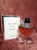 RRP £75 Boxed 40 Ml Tester Bottle Of Lancôme Paris La Vie Est Belle L'Absolu De Parfum