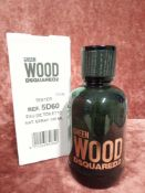 RRP £75 Boxed 100Ml Tester Bottle Of Dsquared2 Green Wood Edt Spray