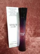 RRP £75 Boxed 75Ml Tester Bottle Of Giorgio Armani Armani Code Eau De Parfum