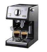 RRP £160 Boxed Delonghi Espresso And Cappuccino Maker