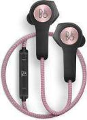 RRP £180 Boxed Tested And Working Bang & Olufsen H5 Wireless Earphones In Pink