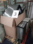RRP £560. Pallet To Contain 7 Assorted John Lewis Pedal Bins For Waste/Recycling. Stainless Steel An