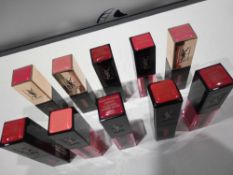 RRP £150 Gift Bag To Contain 10 Ex Display Testers Of Yves Saint Laurent Lipsticks/Lipglosses