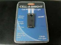 RRP £200 Lot To Contain 100 Brand New Cell-A-Bright Mobile Phone Flashlight With Adhesive Backing