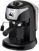 RRP £140 Boxed Delonghi Motivo Traditional Pump Espresso/Cappuccino Maker
