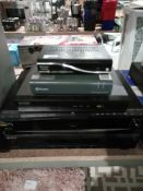 RRP £200 Lot To Contain 5 Unboxed Freeview Boxes And Stereo Amplifiers