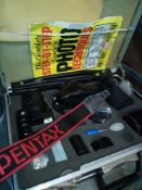 RRP £300 Pentax Vintage Camera Set Briefcase With Accessories