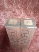 RRP £65 Lot Of 2 Brand New Boxed Testers Of Urban Decay Naked Skin Weightless Ultra Definition Liqui