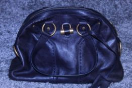 RRP £1,000 Yves St-Lauren Muse 1 Shoulder Bag, Indigo Small Grained Calf Leather Shoulder Bag, (