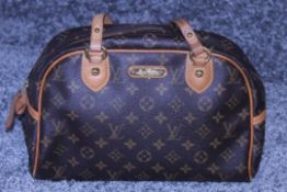 RRP £1,650 Louis Vuitton Montorgueil Handbag, Brown Monogram Coated Canvas, 30x20x13cm, Condition